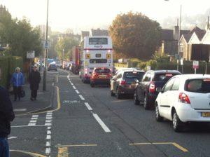 Traffic and cycle lane photo