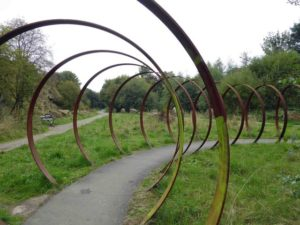 Spen Valley - cycle through iron hoops